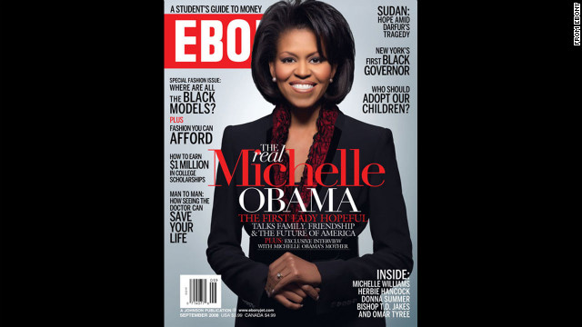Obama on the cover of Ebony.