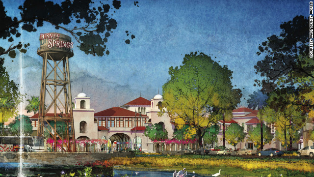 Walt Disney World Resort in Florida is transforming Downtown Disney into a new complex called Disney Springs, shown in these renderings.