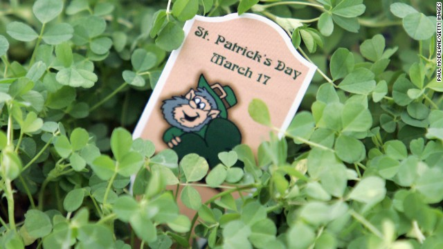 St. Patrick is said to have used a three-leaf clover to <a href='http://www.cnn.com/2012/03/17/world/europe/saint-patrick-study'>explain the Holy Trinity</a> to the pagans of Ireland. The shamrock has been associated with St. Patrick and Ireland since the mid-5th century.