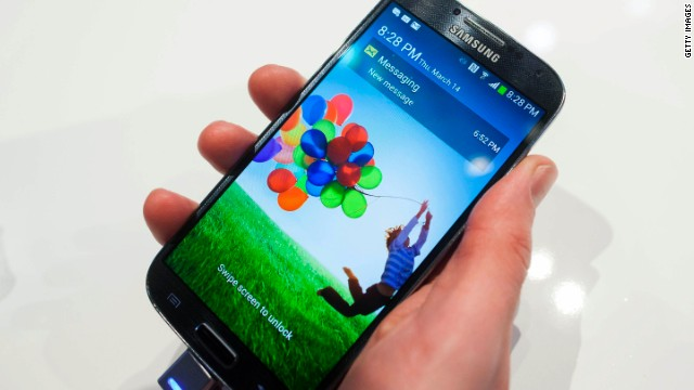 Samsung executives have said the Galaxy S5 smartphone will hit stores by April. It follows the S4, a big-screen, feature-laden phone that emerged as the top rival to the once virtually unrivaled iPhone. Samsung says the S5 will have a different design and, possibly, eye-scanning technology.