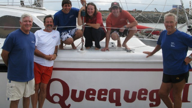 The three men and other crew set sail from the Florida Keys in August 2007, a date marking the 40th anniversary of Cultra's first round-the-world sail. They made stops in Belize, Panama, Ecuador, the Galapagos, Tahiti, Bora Bora, Samoa, Australia, Bali and Mauritius. They took their time, enjoying the endless horizons of the seas and meeting up with family and friends along the way. &lt;!-- --&gt;
