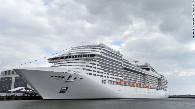Europe's equal largest cruise ship, the MSC Preziosa, tips the scales at 140,000 tons and can travel at speeds of up to 23 knots.