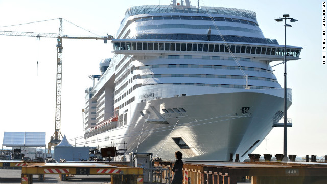 At 333 meters long, the Preziosa, along with its twin MSC Divina, is Europe's equal-biggest ship. But on the global stage, Miami-based Royal Caribbean International rules the size game. It has five ships larger than the Preziosa, including the world's biggest -- the Allure of the Seas, which is 362 meters long. 