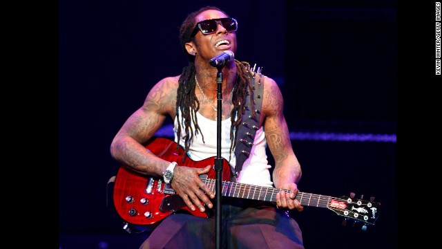 Rapper Lil Wayne performs onstage during his &quot;I Am Music&quot; Tour at the Gibson Amphitheater on March 29, 2009, in Universal City, California.
