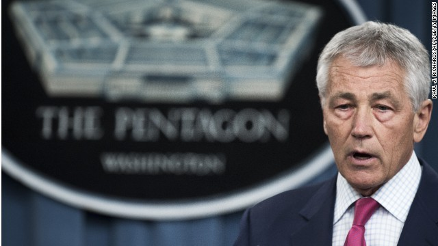 Hagel to give up furlough pay