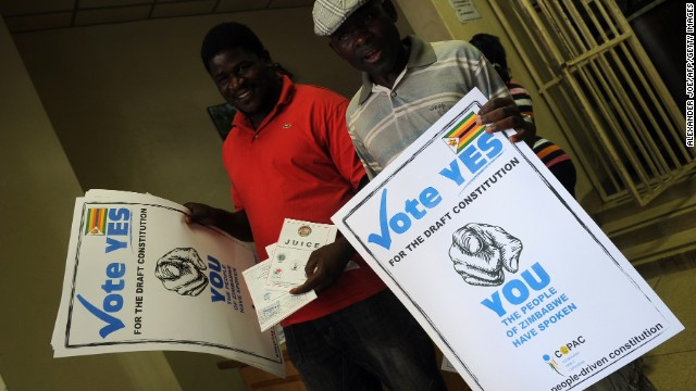 Zimbabweans vote on new constitution before elections