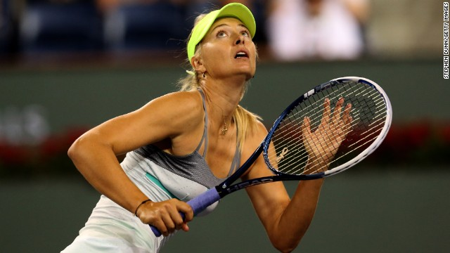 Maria Sharapova beat fellow Russian Maria Kirilenko to reach the final of the women's tournament at Indian Wells, California.