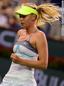 Sharapova's victory meant she will return to second in the world rankings above last year's champion Victoria Azarenka, who withdrew from her quarterfinal against Caroline Wozniacki due to injury.
