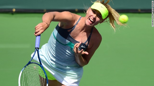 Maria Sharapova, who won the Indian Wells title in 2006, took the first set 6-2 as she took control of the final in some style.