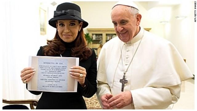 """Cristina Kirchner narra en Twitter su encuentro con el papa: """"Me sentí más argentina que nunca"""""""