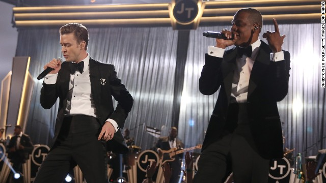 "In October 2012, JT and Jessica Biel were married in an intimate ceremony in Italy. The pair join Beyonce and Jay-Z in the audience at the 2013 Grammy Awards in Los Angeles. Timberlake and Jay-Z performed ""Suit & Tie"" that evening."