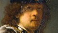 The newly identified Rembrandt self-portrait, donated to the National Trust and on display at Buckland Abbey.