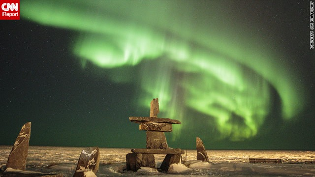 2013 has proved a bumper year for sightings of the northern lights, due to a peak in the 11-year solar cycle. In this image taken earlier this month by Jim Halfpenny in Churchill, Manitoba, Canada, they appear to <a href='http://ireport.cnn.com/docs/DOC-943161'>float above some stones</a>.