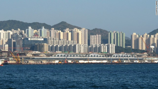 Hong Kong's Kai Tak Cruise Terminal received its first group of cruise ship passengers in June 2013.
