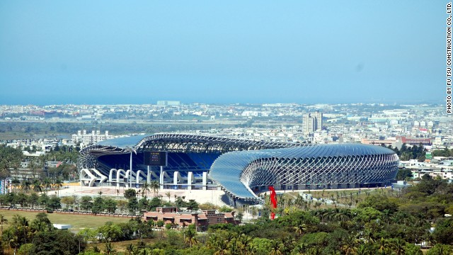 The 8,844 solar panels on Ito's stadium roof generate 1.14 million kilowatts of electricity annually, making the building productive even when it's not in use. The novel design slopes outward at one end and was built using 100% reusable materials. Completed in time for the 2009 World Games, this is a significant work of sustainable architecture. 