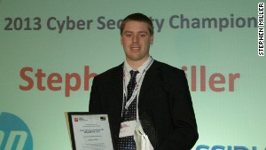 Stephen Miller winning the 2013 Cyber Security Challenge