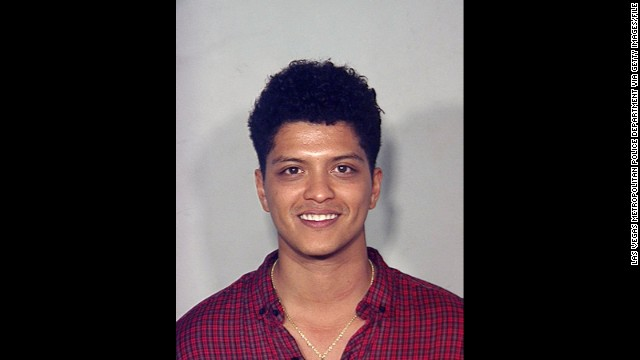 Singer Bruno Mars was arrested on September 19, 2010 in Las Vegas, Nevada, on a drug charge. He &lt;a href='http://www.cnn.com/2011/SHOWBIZ/celebrity.news.gossip/02/16/bruno.mars.plea/index.html?iref=allsearch' target='_blank'&gt;later accepted a &quot;deferred adjudication&quot;&lt;/a&gt; deal in 2011.