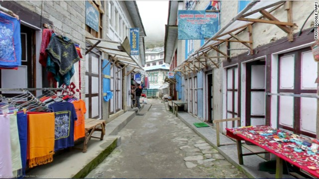 Namche Bazaar in Nepal is the gateway to the high Himalayas and a popular town for adventurers looking to outfit expeditions.