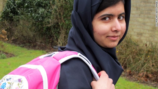 "Malala Yousafzai returns to school for the first time at Edgbaston High School for Girls in Birmingham, England, on March 19. The 15-year-old said she had ""achieved her dream."""