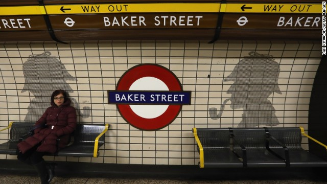 Baker Street is famous for being the home of the fictional detective Sherlock Holmes, and his pipe smoking silhouette is present throughout the station. It was remodeled between 1911-13 to its present form as part of a comprehensive rebuilding project by the Metropolitan Railways. It was turned into the new company headquarters and flagship station, and quickly became known as the 'Gateway to Metroland'.