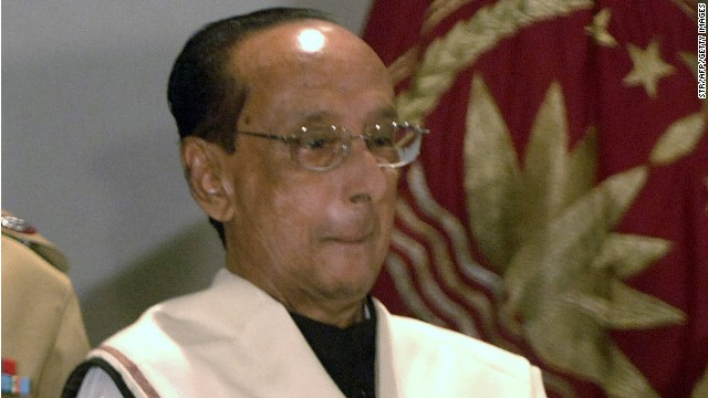 President Zillur Rahman at the swearing-in ceremony at the Presidential Palace in Dhaka, February 12, 2009.