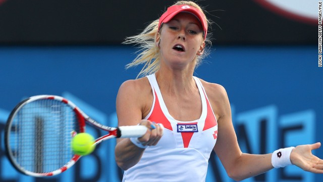 Urszula, 22, was seeded at a grand slam for the first time this year, but the No. 31 exited the Australian Open in the first round at the hands of American Jamie Hampton.