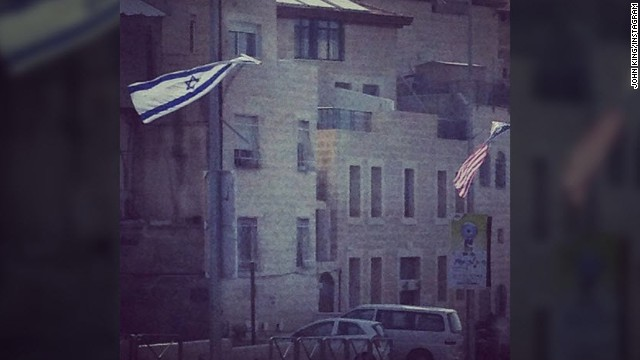Israeli and U.S. flags flying side-by-side can be seen all across Jerusalem with banners boasting of the &quot;unbreakable alliance&quot; with the United States. 