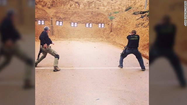 At an Israeli security academy in the West Bank, instructors simulate a response to a terror attack.