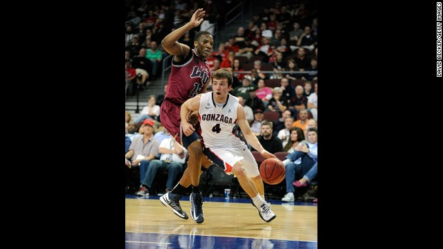 Kevin Pangos is a sophomore guard who can fill up a stat sheet, averaging 11.5 points, 2.7 rebounds, 3.2 assists and 1.4 steals per game this season.