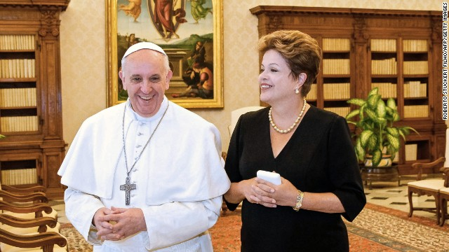 El papa ser argentino, pero Dios es brasileo, dice la presidenta de Brasil