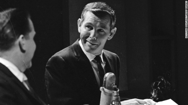 Johnny Carson's 30 years as a host on the show made him a talk show icon. Carson, who hosted from 1962 to 1992, set the standard for late night show formats and style. Pictured, Carson speaks to a guest, 1964.