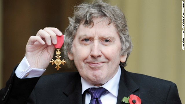James Herbert with his OBE medal which he received from Prince Charles at Buckingham Palace on October 29, 2010 in London.