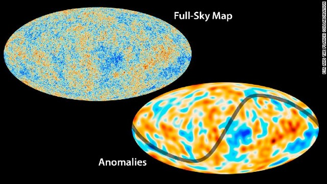 The Planck mission has created a map the oldest light in our universe, called the cosmic microwave background. The results fit well with what we know about the universe and its basic traits, but some unexplained features are observed. One anomaly is that the variations in temperature are not uniform throughout the sky, as shown here.