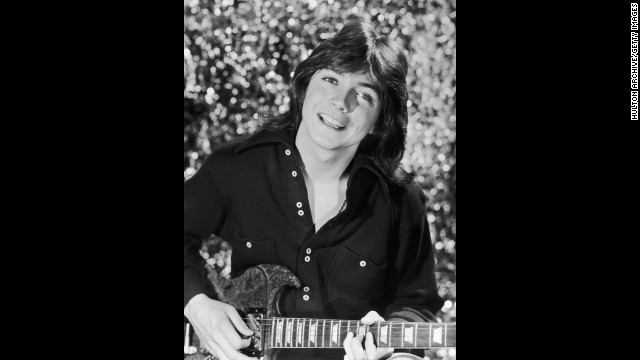 "Singer and actor David Cassidy, seen here circa 1975, was a heartthrob both on and off the small screen. Playing Keith Partridge, the dreamy eldest brother on ""The Partridge Family,"" soon brought Cassidy music fame in real life. Surely some fans still have this infamous 1972 Rolling Stone cover, on which Cassidy posed nude."