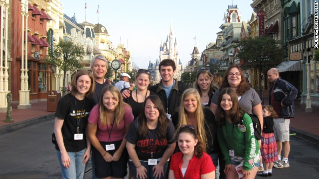 "Manchester University sociologist Robert Pettit and his class visit Disney World as part of his three-week course ""Disney and American culture."""