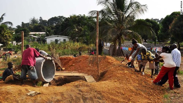 Its low-tech water solutions include hand-dug wells, rehabilitation of existing wells and construction of communal latrines.