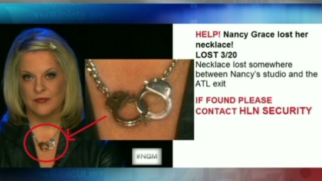 did cooper nancy grace s handcuff necklace