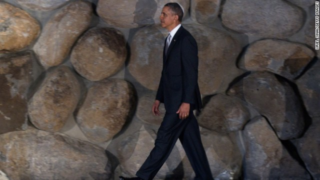 Obama visits Yad Vashem on March 22. The president turned up the &quot;eternal flame&quot; of remembrance for the millions of Jewish victims of Nazi death camps.