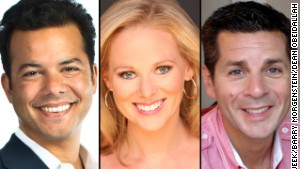Big Three podcasters John Avlon, Margaret Hoover, Dean Obeidallah