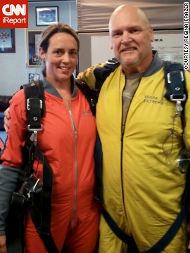 Frazer and her husband celebrated meeting their weight loss goals by going skydiving in Las Vegas last summer. They also attended a roller derby conference called <a href='http://www.rollercon.net/' target='_blank'>Rollercon</a>.