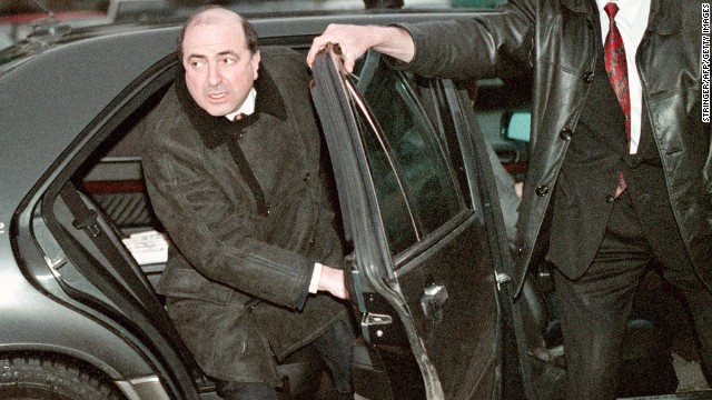 Boris Berezovsky began his working life as a math professor, and then a systems analyst, before switching to more lucrative jobs, according to CNN's Jill Dougherty. He is pictured here at Moscow airport in 1999.