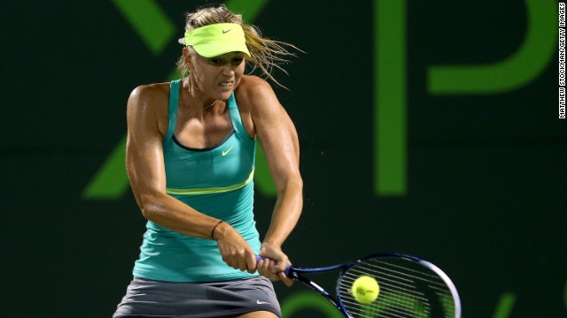 Maria Sharapova will be hoping to progress to the fourth round Sunday when she takes on fellow Russian Russian Elena Vesnina. Sharapova, who won at Indian Wells last weekend, eased past Canada's Eugenie Bouchard 6-2 6-0 Friday following a power outage.