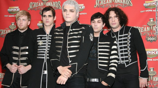 The band My Chemical Romance pose in the press room for Spike TV's