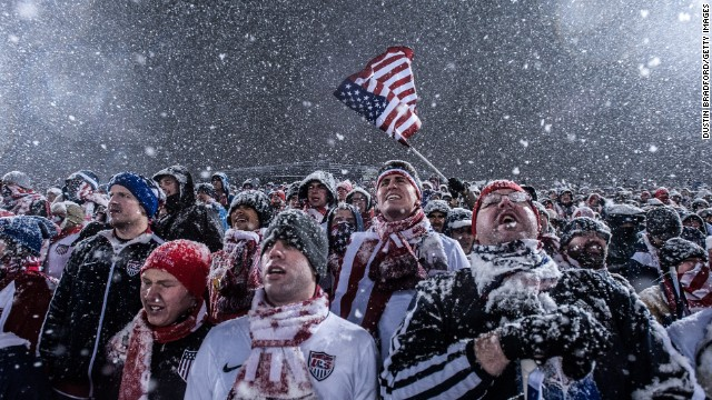 Just over 19,000 hardy souls braved the cold to see if the U.S. could bounce back after last month's defeat to Honduras.