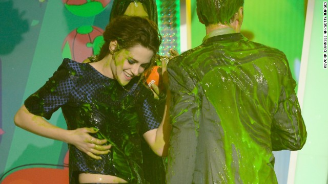Kristen Stewart wins ... slime?