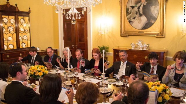 President Obama shares a White House seder