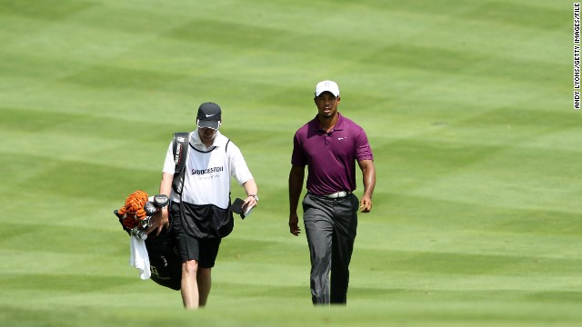 After a nearly three-month break, Woods returns to golf at the Bridgestone Invitational in August 2011.