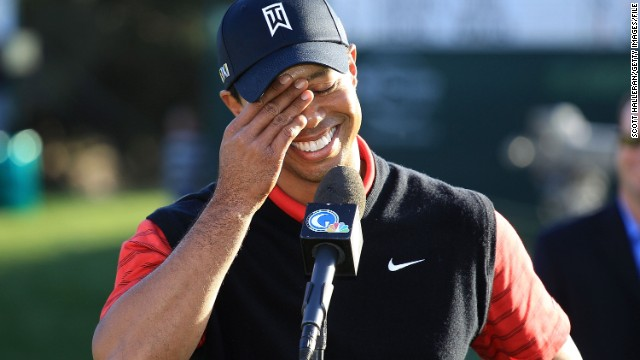 Woods earns his first win since November 2009 at the <a href='http://www.cnn.com/2011/12/04/sport/golf/california-tiger-woods/index.html '>Chevron World Challenge</a>, a non-PGA tour event, in December 2011.