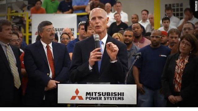 Group makes positive ad for Scott in Florida