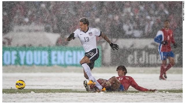 La FIFA valida la derrota de Costa Rica ante EE.UU. que se jugó con nieve